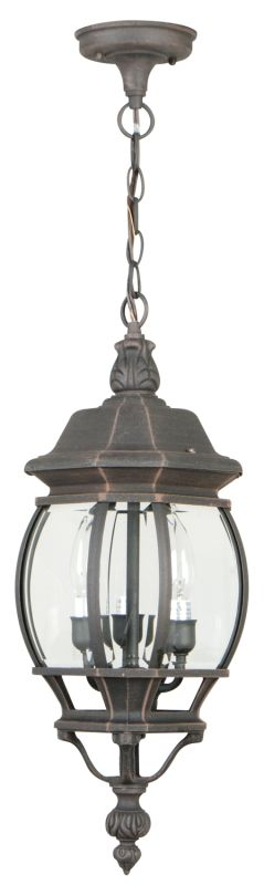 Craftmade Z331 French Style 3 Light Lantern Outdoor Pendant - 8 Inches