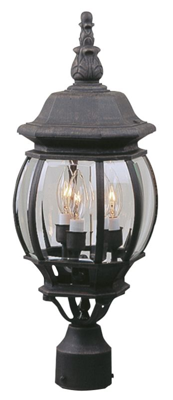 Craftmade Z335 French Style 3 Light Outdoor Post Light Rust Outdoor
