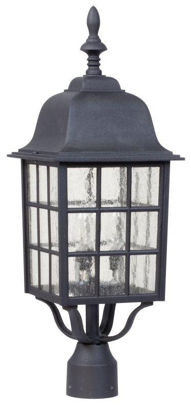 Craftmade Z575 Grid Cage 3 Light Outdoor Post Light Matte Black