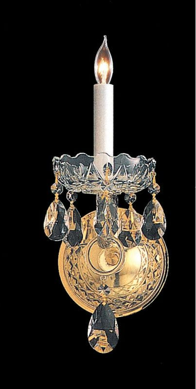 Crystorama Lighting Group 1101-CL Traditional Crystal 1 Light Sale $158.00 ITEM: bci1673900 ID#:1101-PB-CL-MWP UPC: 633779003288 :