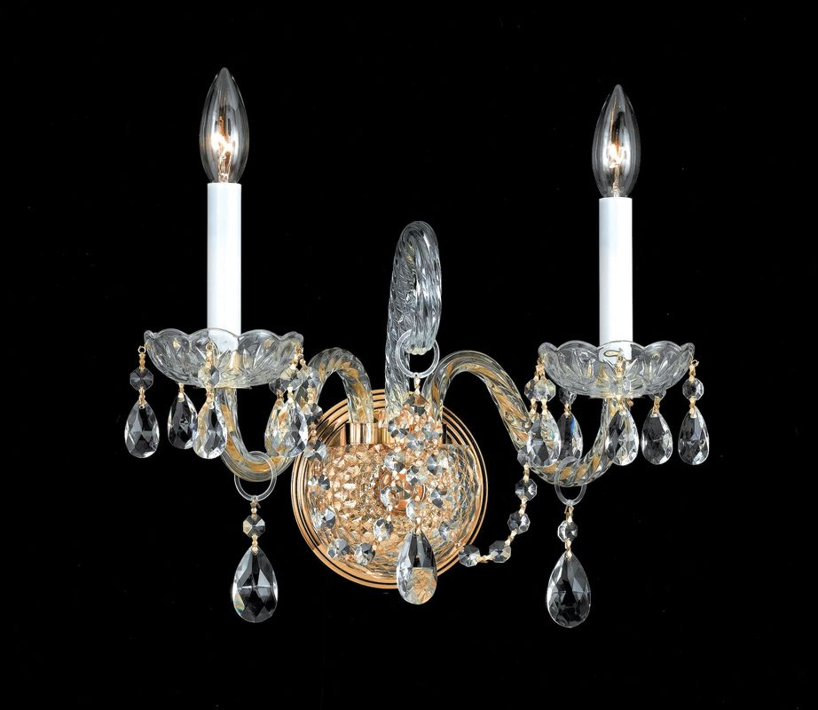 Crystorama Lighting Group 1102-CL Traditional Crystal 2 Light