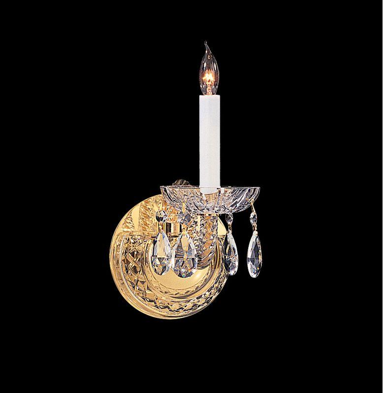 Crystorama Lighting Group 1121-CL Traditional Crystal 1 Light