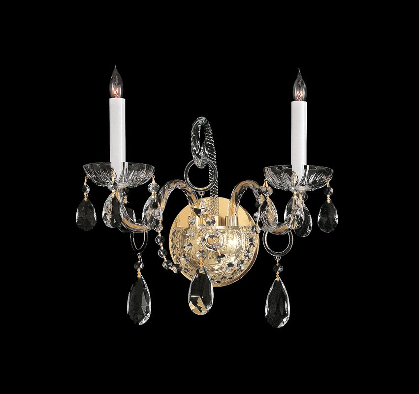 Crystorama Lighting Group 1122-CL Traditional Crystal 2 Light Sale $250.00 ITEM: bci1673927 ID#:1122-PB-CL-MWP UPC: 633779003677 :