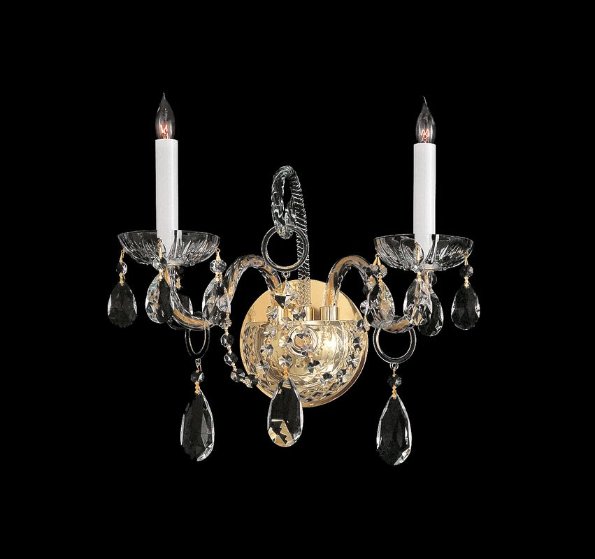 Crystorama Lighting Group 1122-CL Traditional Crystal 2 Light Sale $350.00 ITEM: bci1673928 ID#:1122-PB-CL-SAQ UPC: 633779003684 :