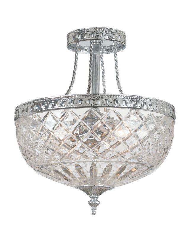 Crystorama Lighting Group 118-12 Richmond 3 Light Semi-Flush Ceiling Sale $350.00 ITEM: bci621062 ID#:118-12-CH UPC: 633779000744 :
