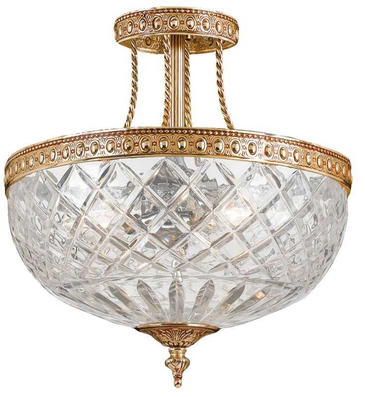 Crystorama Lighting Group 118-12 Richmond 3 Light Semi-Flush Ceiling Sale $350.00 ITEM: bci621061 ID#:118-12-OB UPC: 633779000768 :