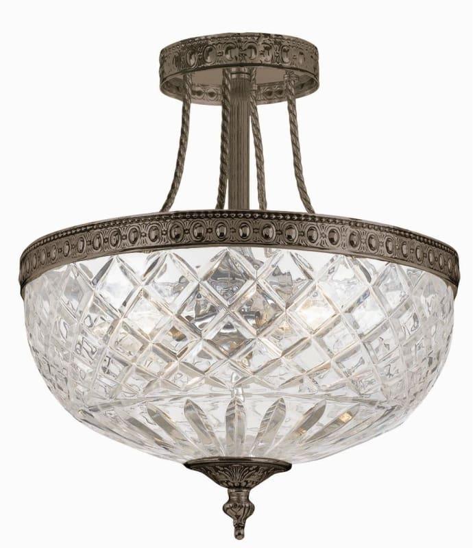 Crystorama Lighting Group 118-12 Richmond 3 Light Semi-Flush Ceiling Sale $350.00 ITEM: bci1115613 ID#:118-12-EB UPC: 633779000751 :