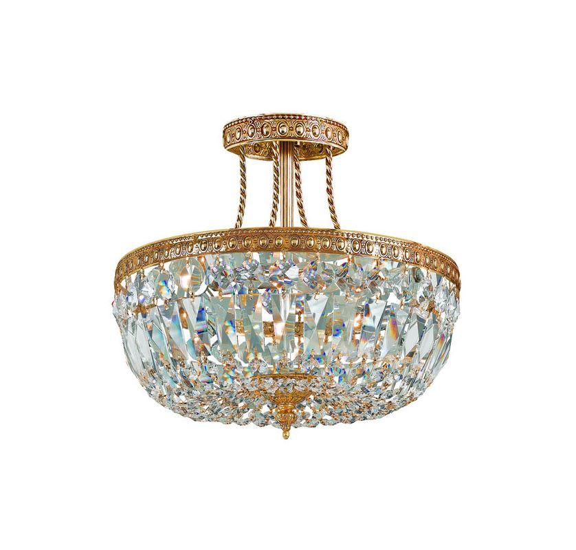 Crystorama Lighting Group 119-12 3 Light Clear Swarovski Strass Semi Sale $550.00 ITEM: bci1330131 ID#:119-12-OB-CL-SAQ UPC: 633779000836 :