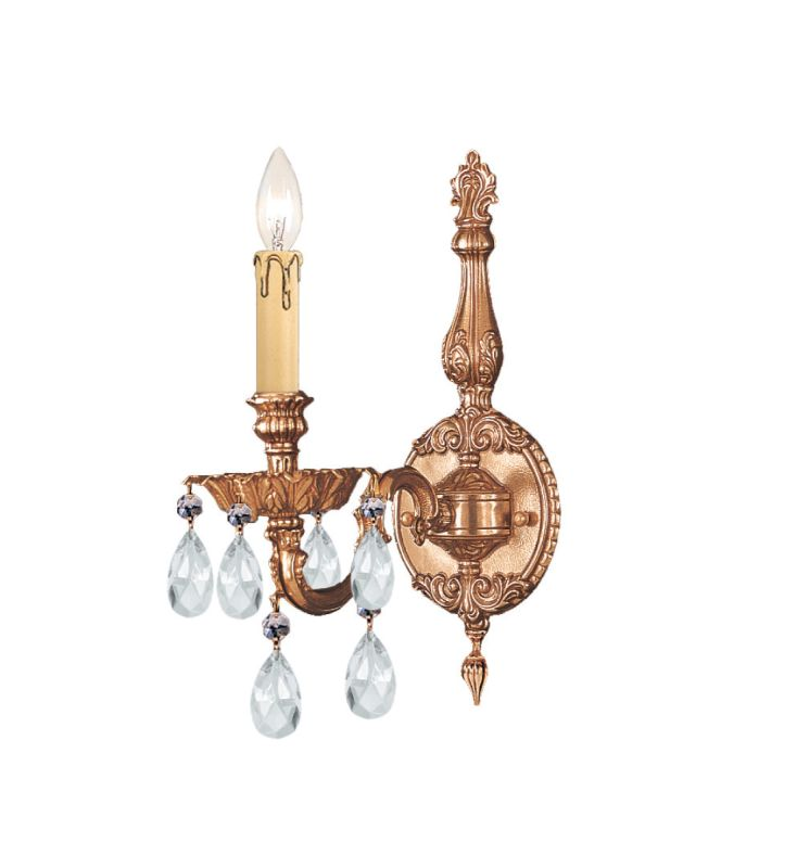 Crystorama Lighting Group 2501-CL Novella 1 Light Candle Style Wall