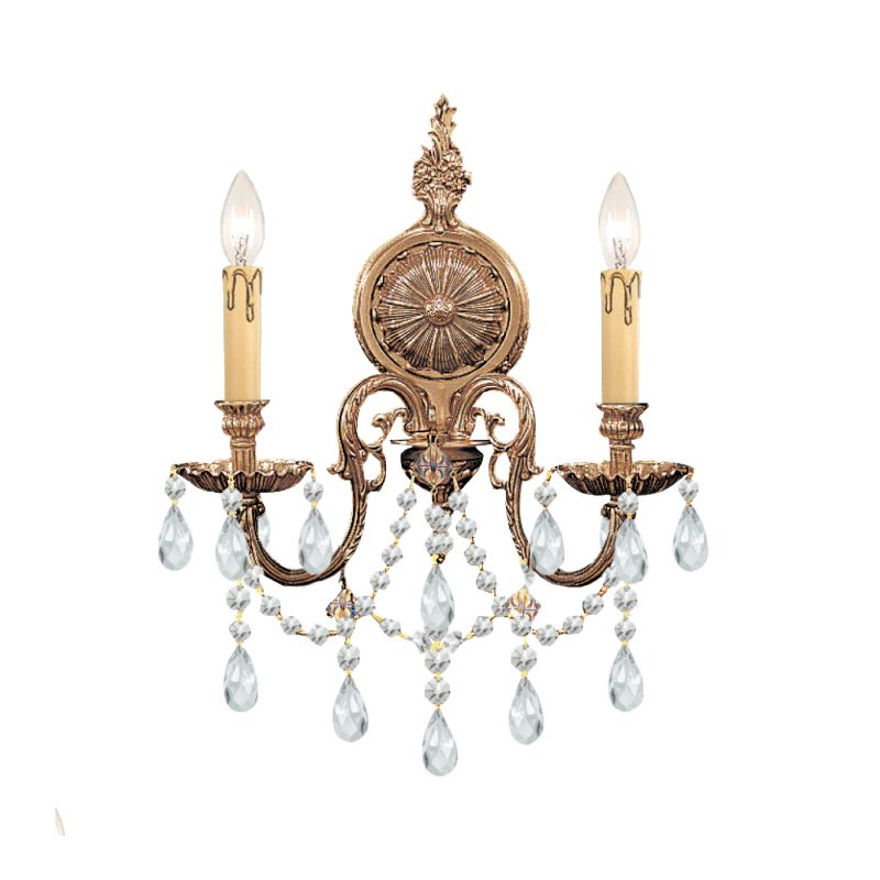 Crystorama Lighting Group 2702-CL Novella 2 Light Candle Style Crystal