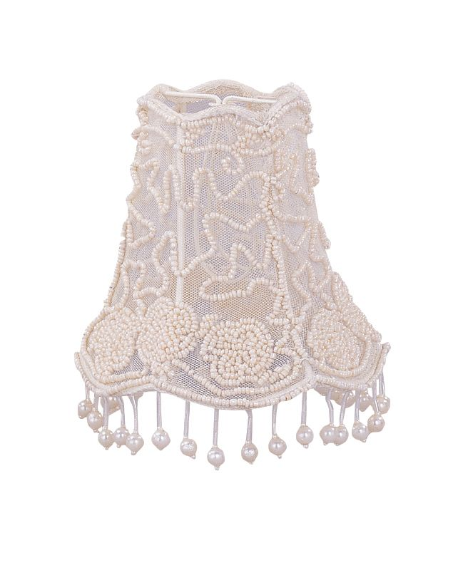 Crystorama Lighting Group 2SH Pearl Beaded Mini Shade Cream Accessory