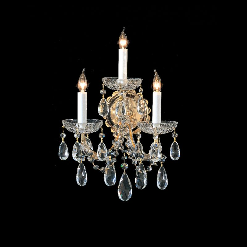 Crystorama Lighting Group 4403-GD Maria Theresa 3 Light Swarovski Sale $191.10 ITEM: bci1718786 ID#:4403-GD-CL-MWP UPC: 633779005466 :
