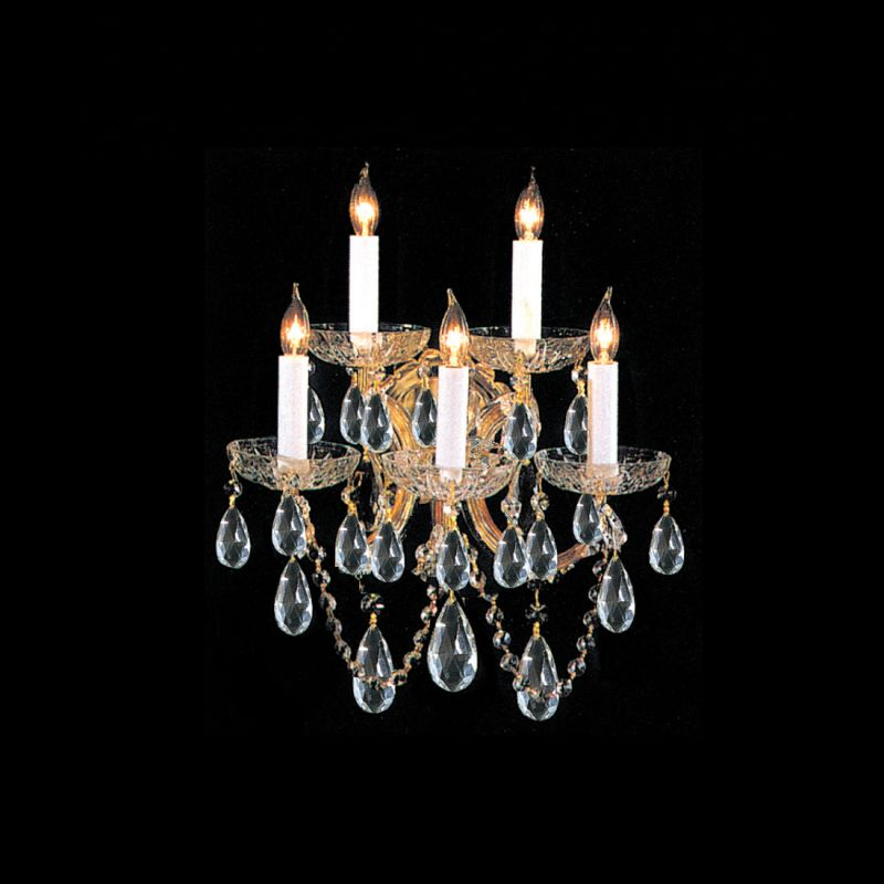 Crystorama Lighting Group 4404-GD Maria Theresa 5 Light Swarovski Sale $620.10 ITEM: bci1718791 ID#:4404-GD-CL-S UPC: 633779005541 :