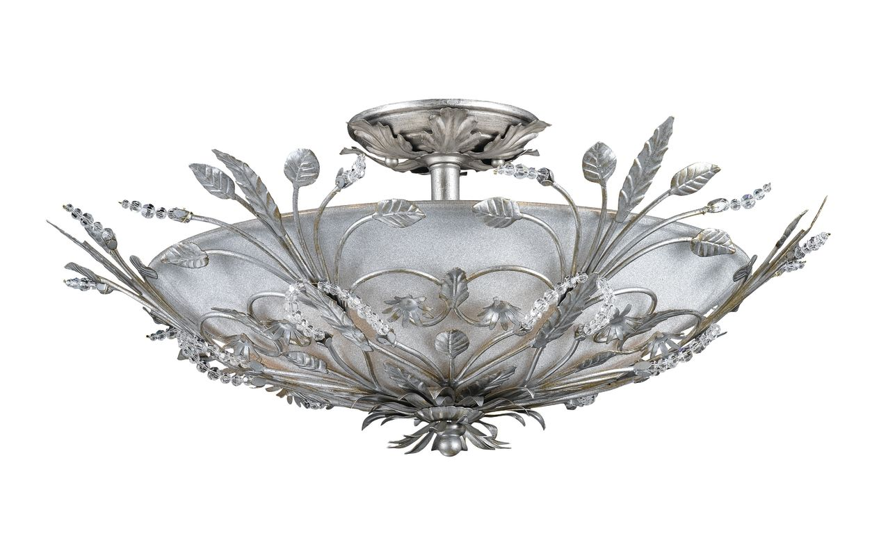 Crystorama Lighting Group 4704 Six Light Primrose Semi Flush Mount