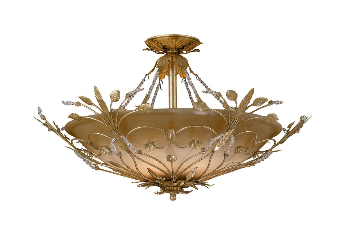 Crystorama Lighting Group 4707 Six Light Primrose Semi Flush Mount Sale $700.00 ITEM: bci621549 ID#:4707-GL UPC: 633779006807 :