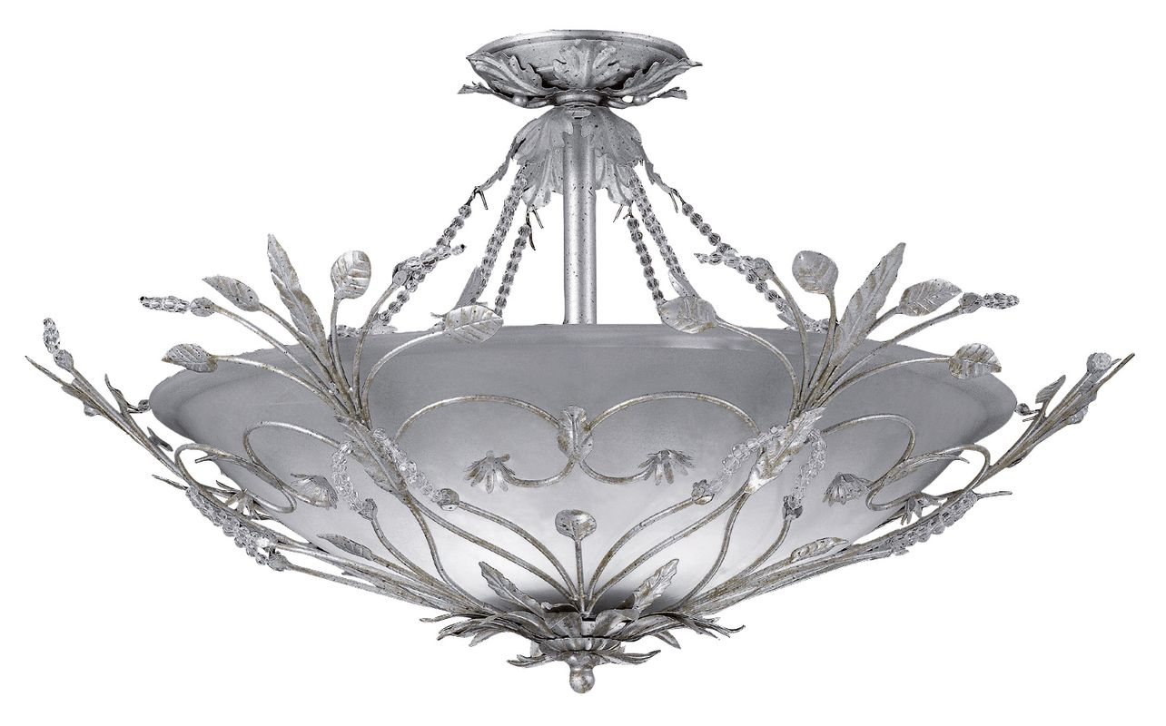 Crystorama Lighting Group 4707 Six Light Primrose Semi Flush Mount Sale $700.00 ITEM: bci621550 ID#:4707-SL UPC: 633779006814 :