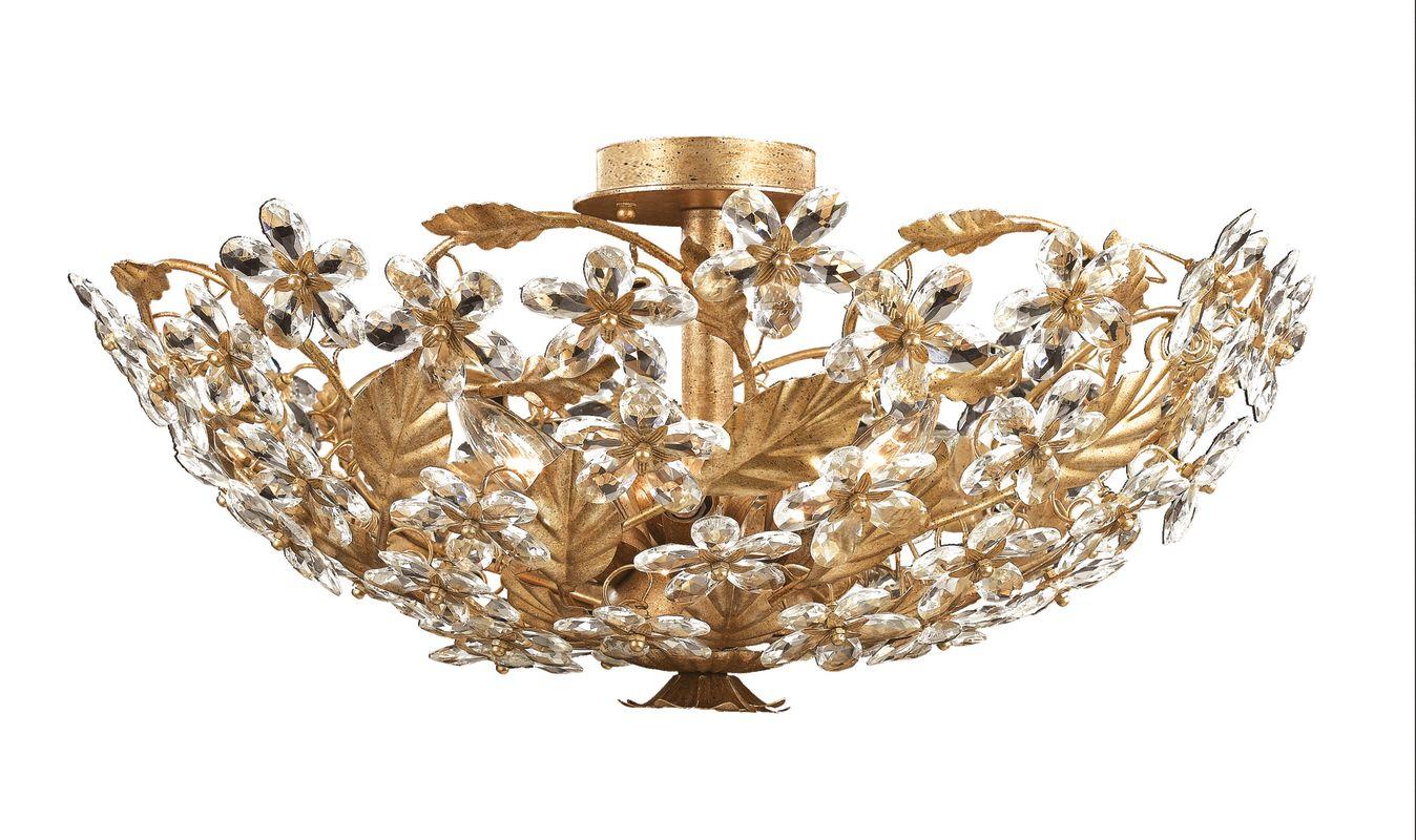 Crystorama Lighting Group 4724 Abbie 6 Light Flush Mount Ceiling Sale $598.00 ITEM: bci621564 ID#:4724-GL UPC: 633779006852 :