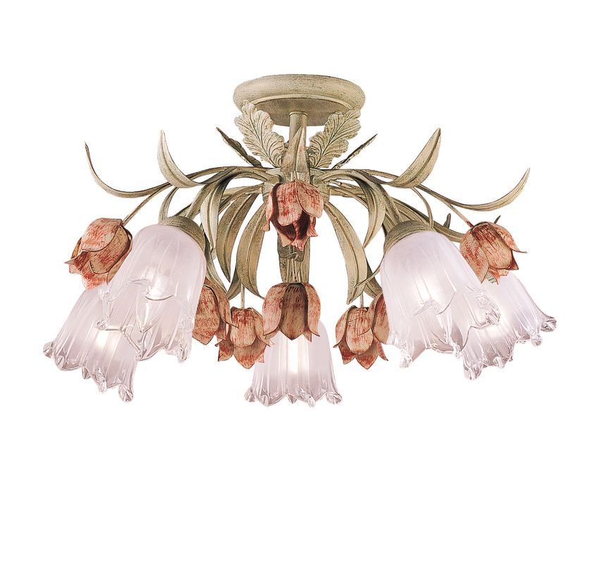 Crystorama Lighting Group 4800 Five Light Southport Handpainted