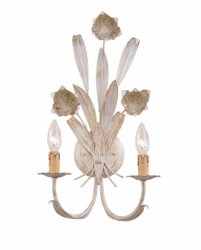 Crystorama Lighting Group 4812 Southport 2 Light Candle Style Floral