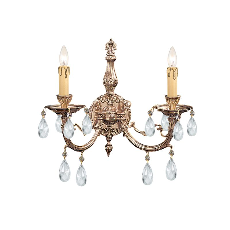 Crystorama Lighting Group 492-CL Etta 2 Light Candle Style Crystal