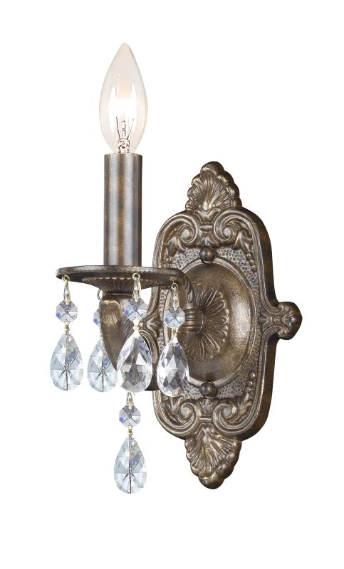 Crystorama Lighting Group 5021-CL Sutton 1 Light Candle Style Crystal