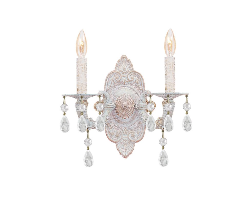 Crystorama Lighting Group 5022-CL Sutton 2 Light Candle Style Crystal