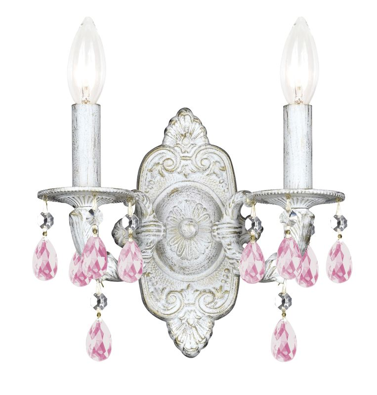 Crystorama Lighting Group 5022-CL-LQ Sutton 2 Light Candle Style