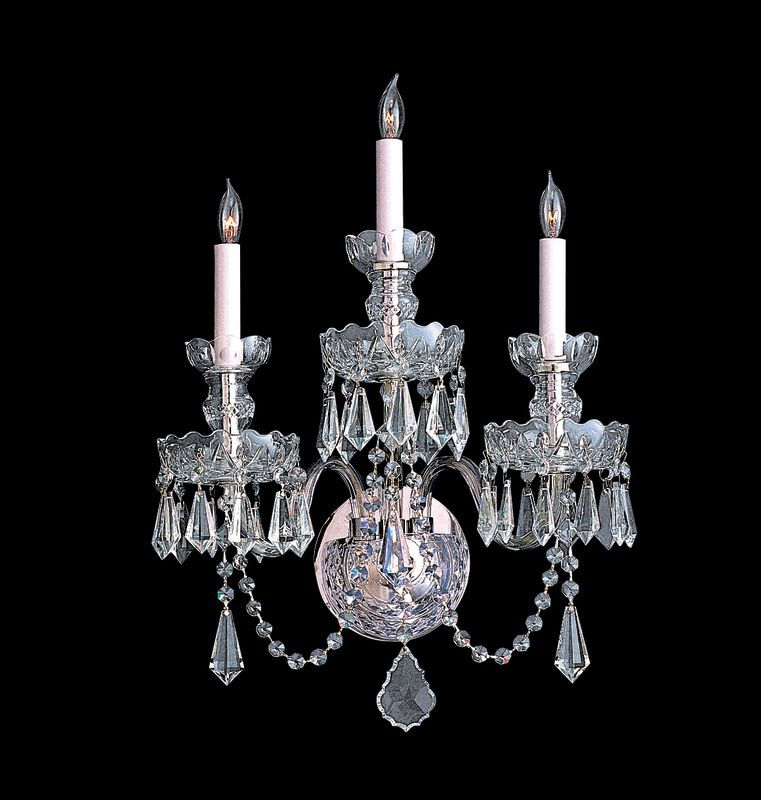 Crystorama Lighting Group 5023-CL-LQ Traditional Crystal 3 Light