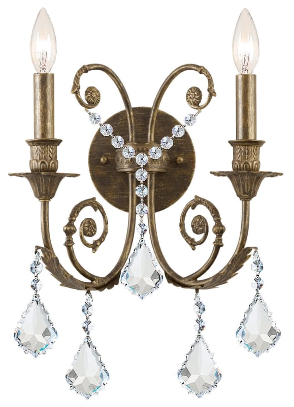 Crystorama Lighting Group 5112-CL Regis 2 Light Candle Style Crystal Sale $230.00 ITEM: bci1673468 ID#:5112-EB-CL-MWP UPC: 633779008092 :