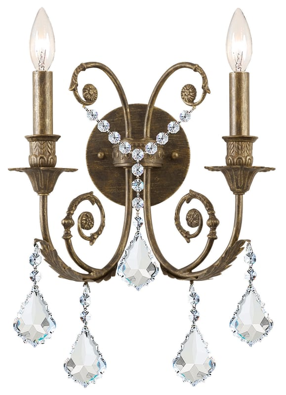 Crystorama Lighting Group 5112-CL Regis 2 Light Candle Style Crystal Sale $300.00 ITEM: bci1673470 ID#:5112-EB-CL-SAQ UPC: 633779008115 :