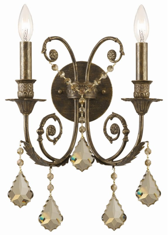 Crystorama Lighting Group 5112-CL Regis 2 Light Candle Style Crystal Sale $139.10 ITEM: bci1673471 ID#:5112-EB-GT-MWP UPC: 633779008122 :