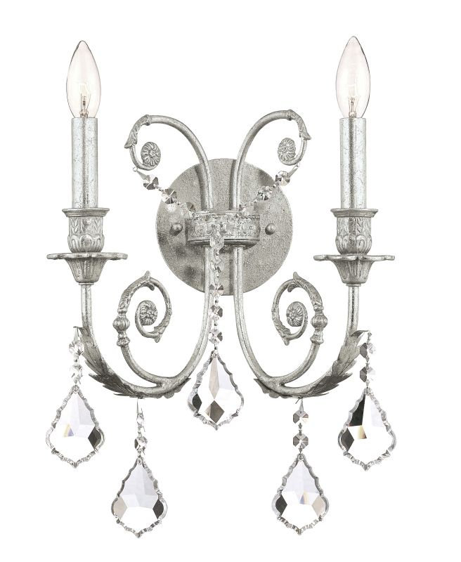 Crystorama Lighting Group 5112-CL Regis 2 Light Candle Style Crystal Sale $230.00 ITEM: bci1673473 ID#:5112-OS-CL-MWP UPC: 633779008146 :