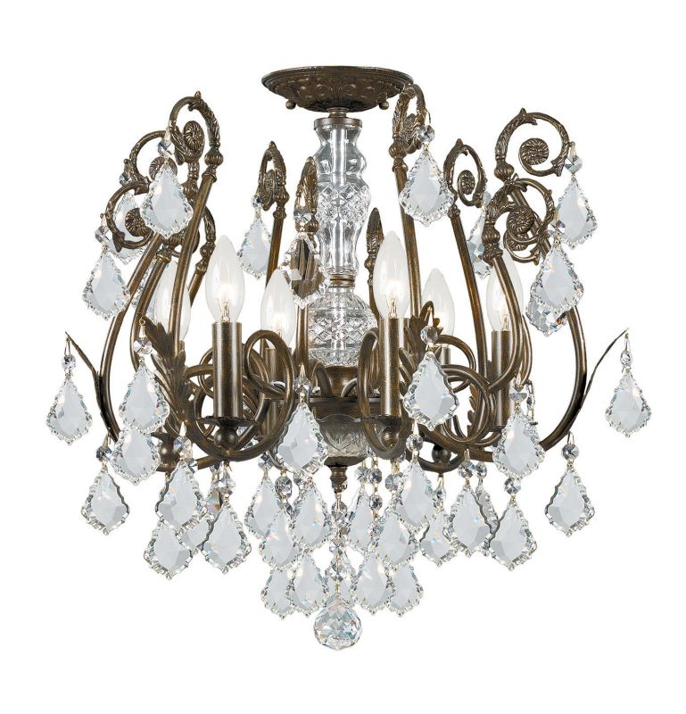 Crystorama Lighting Group 5115-CL Crystal Six Light Chandelier from Sale $598.00 ITEM: bci1673484 ID#:5115-EB-CL-MWP UPC: 633779008252 :
