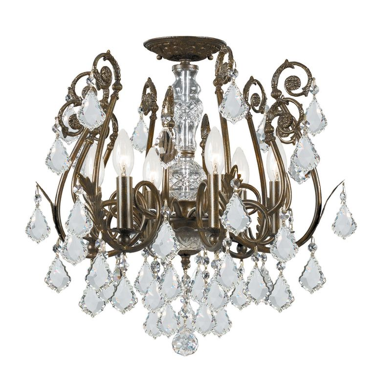 Crystorama Lighting Group 5115-CL Crystal Six Light Chandelier from Sale $998.00 ITEM: bci1673486 ID#:5115-EB-CL-SAQ UPC: 633779008276 :