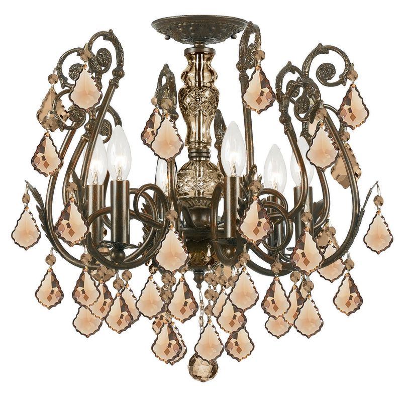 Crystorama Lighting Group 5115-CL Crystal Six Light Chandelier from Sale $1608.10 ITEM: bci1673491 ID#:5115-EB-GTS UPC: 633779008320 :