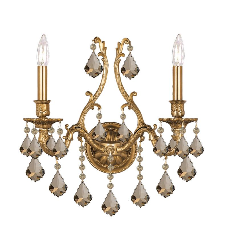 Crystorama Lighting Group 5142-CL Yorkshire 2 Light Candle Style Sale $700.00 ITEM: bci1673530 ID#:5142-AG-GT-MWP UPC: 633779008801 :