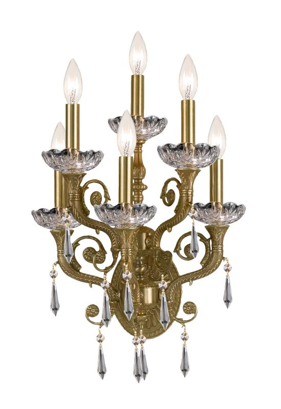 Crystorama Lighting Group 5176-CL Regal 6 Light Candle Style Crystal