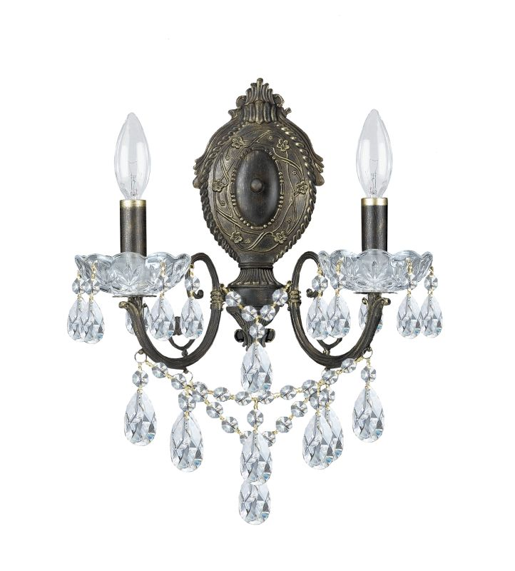 Crystorama Lighting Group 5192-CL Legacy 2 Light Candle Style Crystal