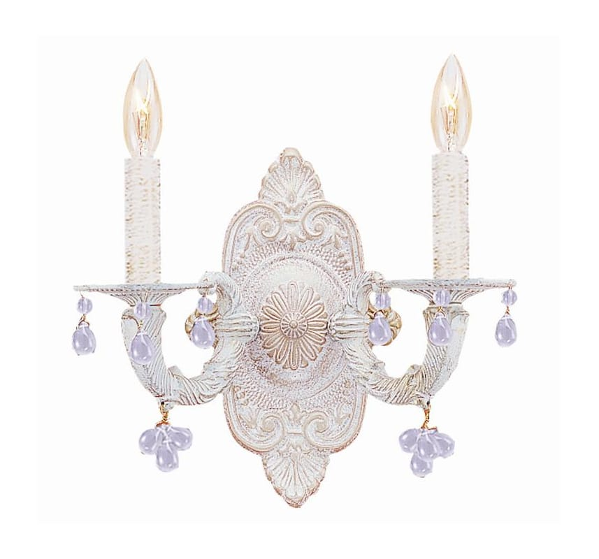 Crystorama Lighting Group 5200 Sutton 2 Light Candle Style Double Wall