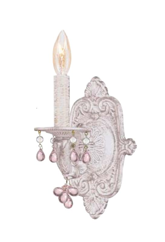 Crystorama Lighting Group 5201 Sutton 1 Light Candle Style Wall Sconce