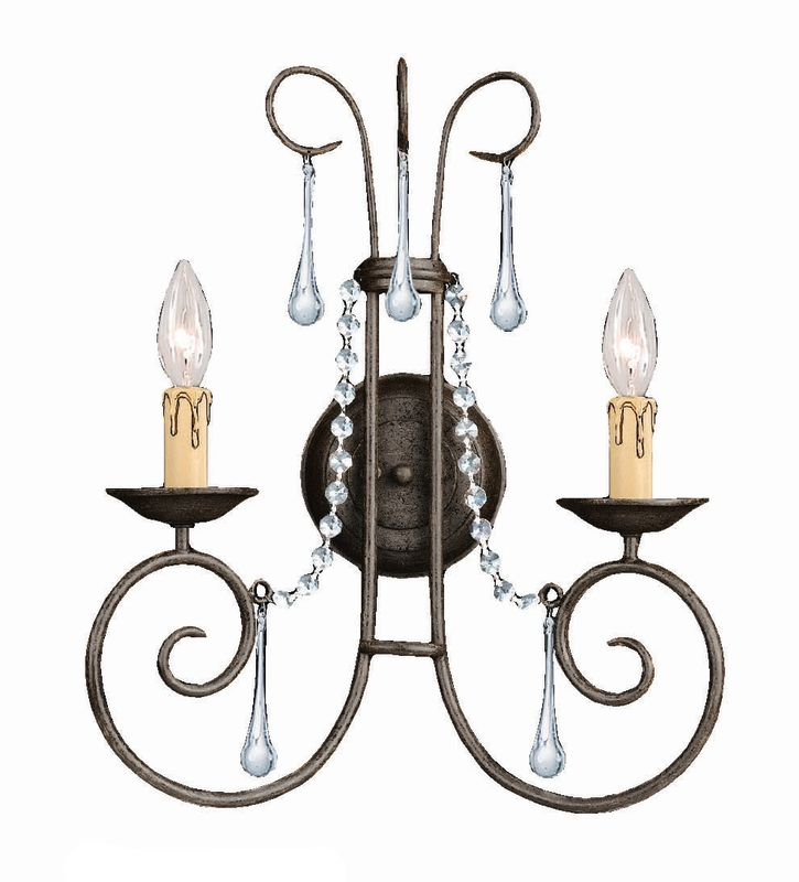 Crystorama Lighting Group 5202 Soho 2 Light Candle Style Crystal