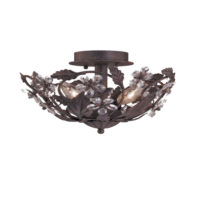 Crystorama Lighting Group 5305 Abbie 3 Light Crystal Semi-Flush Sale $192.60 ITEM: bci621213 ID#:5305-DR UPC: 633779010507 :