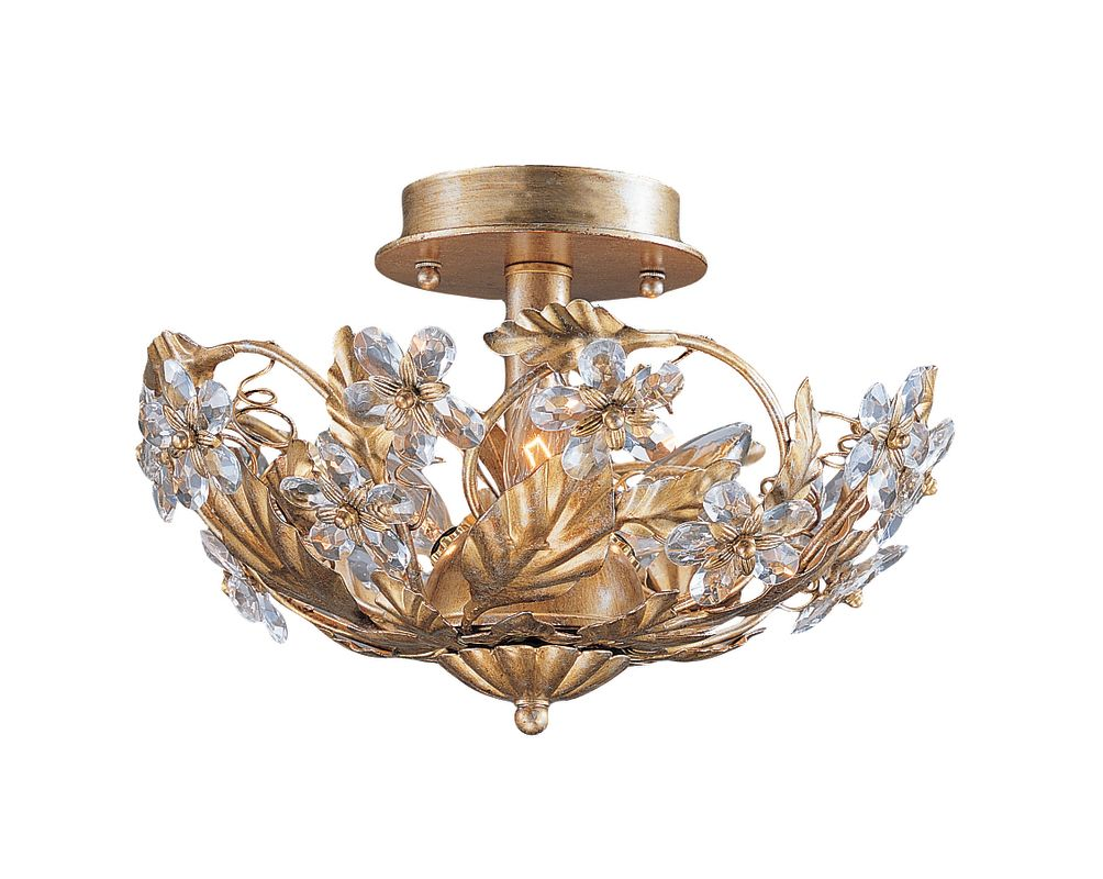 Crystorama Lighting Group 5305 Abbie 3 Light Crystal Semi-Flush Sale $192.60 ITEM: bci621214 ID#:5305-GL UPC: 633779010491 :