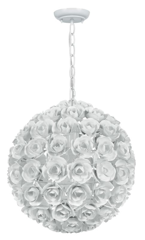 Crystorama Lighting Group 537 Cypress 1 Light Globe Pendant with
