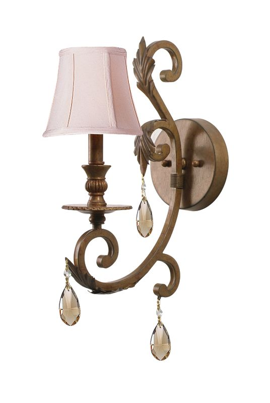 Crystorama Lighting Group 6901-GT-MWP Norwalk 1 Light Wall Sconce with Sale $96.25 ITEM: bci622285 ID#:6901-FB-GT-MWP UPC: 633779013171 :