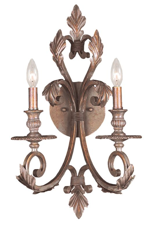 Crystorama Lighting Group 6912 Royal 2 Light Candle Style Double Wall