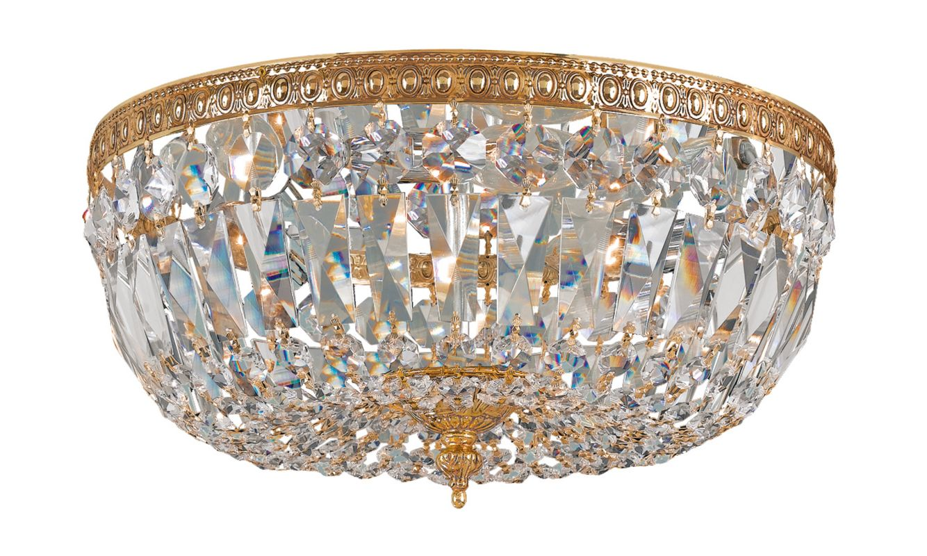 Crystorama Lighting Group 712-CL Richmond 3 Light Flush Mount Ceiling