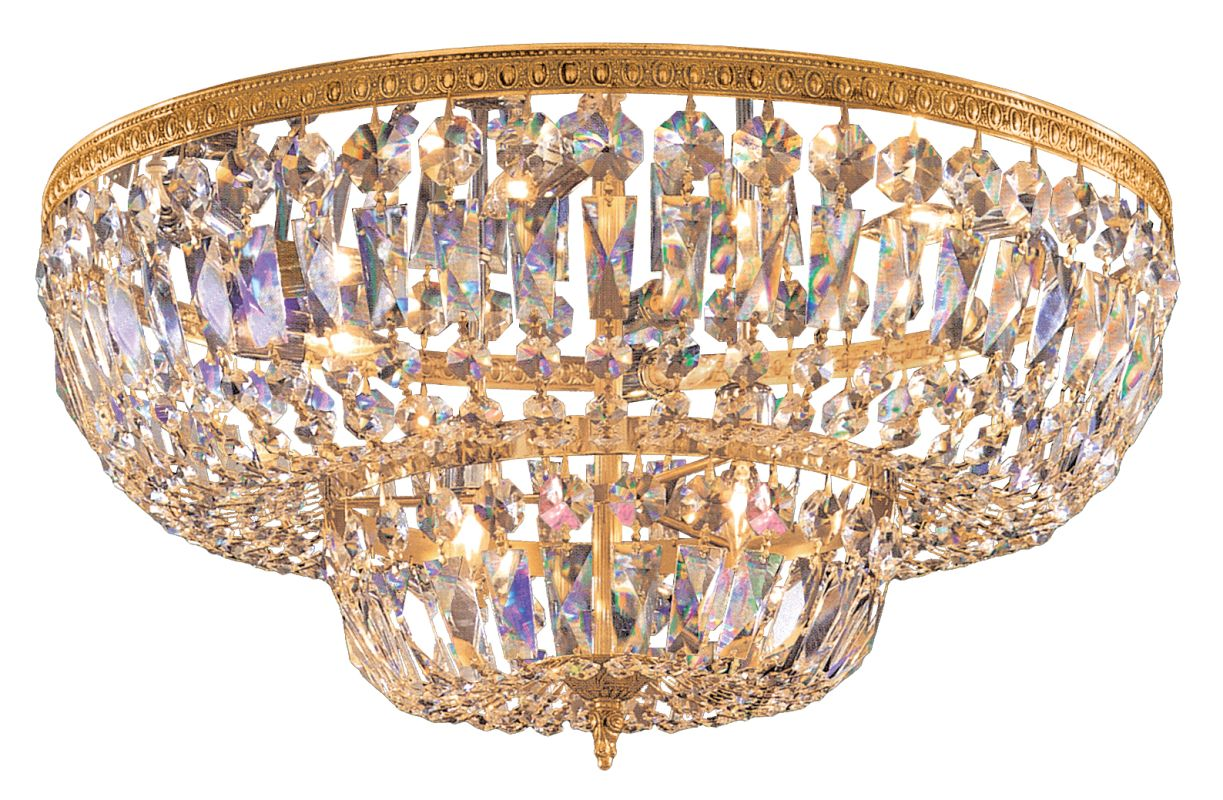 Crystorama Lighting Group 730-CL Eight Light Swarovski Strass Crystal