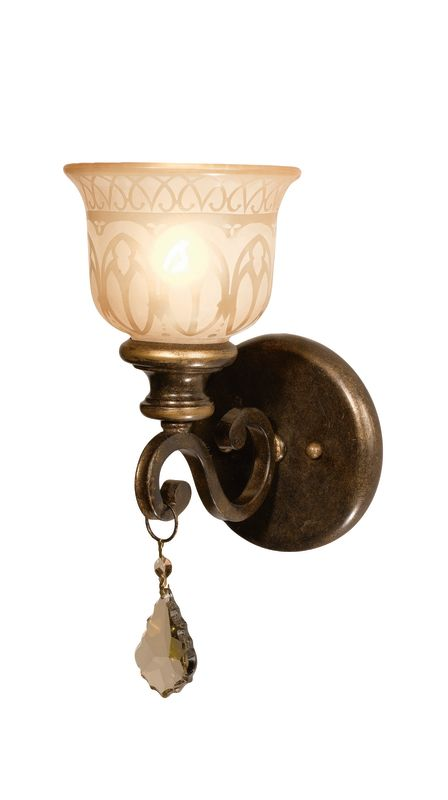 Crystorama Lighting Group 7501 Norwalk 1 Light Crystal Wall Sconce Sale $84.60 ITEM: bci1673773 ID#:7501-BU-GT-MWP UPC: 633779013621 :