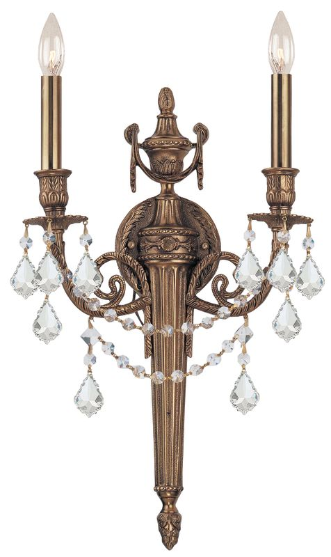 Crystorama Lighting Group 752-MB Arlington 2 Light Candle Style Double Sale $398.00 ITEM: bci1330448 ID#:752-MB-CL-MWP UPC: 633779002618 :